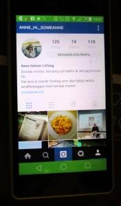 Instagram i telefonen